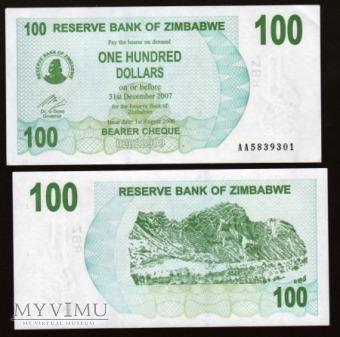 Zimbabwe - P 42 - 100 Dollar - 2006