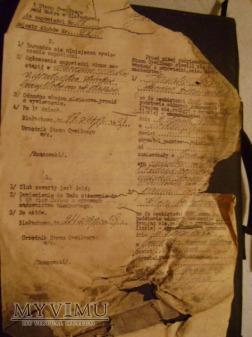 Duże zdjęcie dokument ślubu z 1938 roku