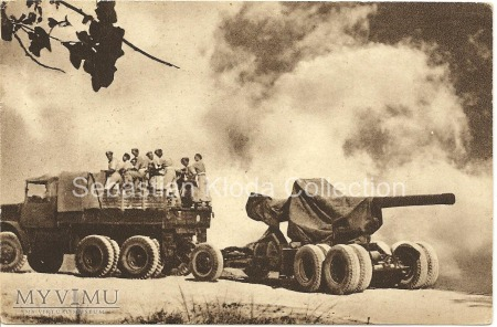Pocztówka 2 Polski Korpus - 2 Grupa Artylerii