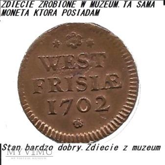 Duit West-Friesland 1702