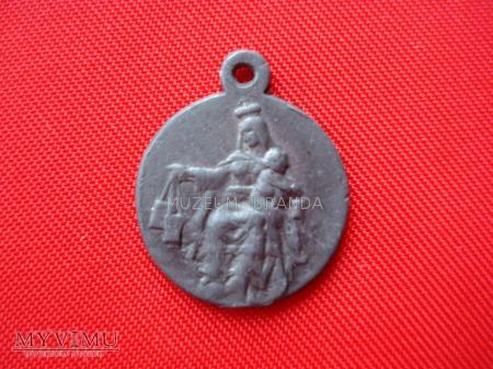 Medalik cynkowy