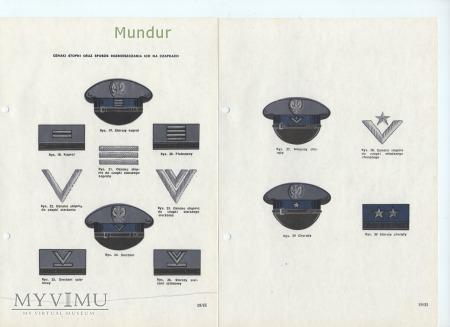 Przepisy o umundurowaniu F-szy SW 1986