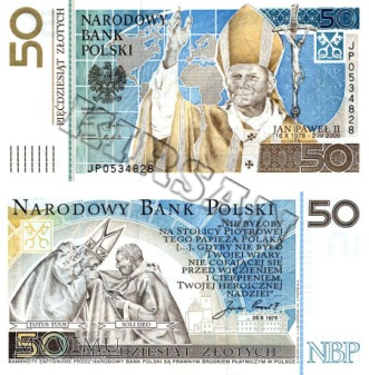 Banknot 50 zlotych 2006 r