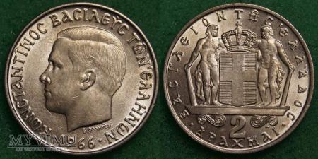Grecja, 2 Drachmy 1966