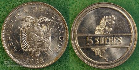 Ekwador, 5 SUCRES 1988