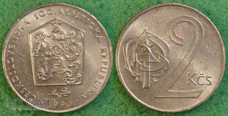 Czechosłowacja, 2 Koruny 1990