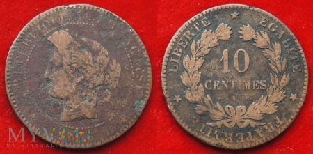 Francja, 10 centimes 1876 K
