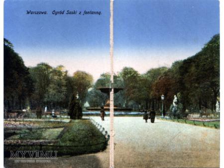 Warszawa Ogród Saski z fontanną