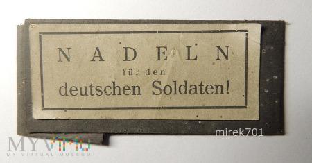 Opakowanie - igły dla niemieckich żołnierzy!