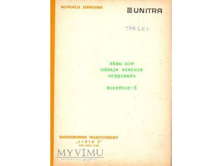 Instrukcja radia LIDIA 2