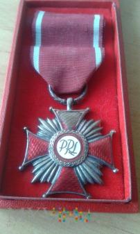 Srebrny Krzyż Zasługi PRL z legitymacją
