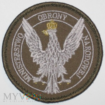 Ministerstwo Obrony Narodowej. Oznaka i coin.