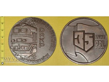 Medal kolejowy - społeczny Dnia Kolejarza w T. G.