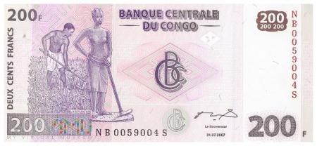 D.R. Konga - 200 franków (2007)