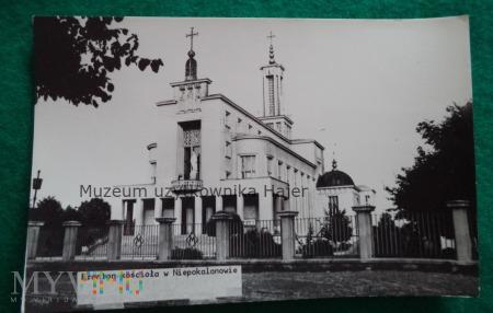Fronton kościoła w Niepokalanowie