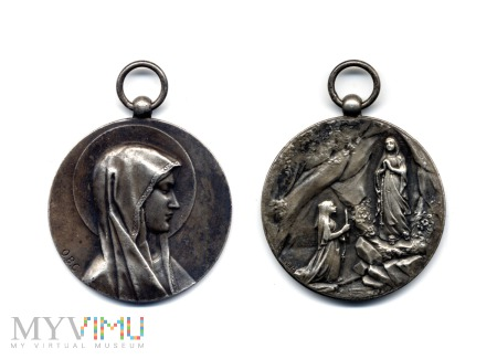 Medal Matki Bożej z Lourdes