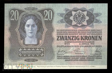 20 koron, 1913