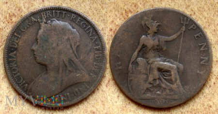 Wielka Brytania, half penny 1900