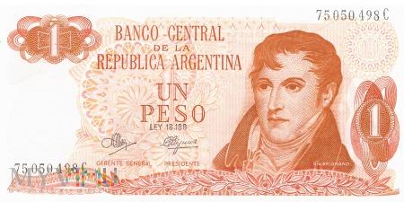 Argentyna - 1 peso (1972)