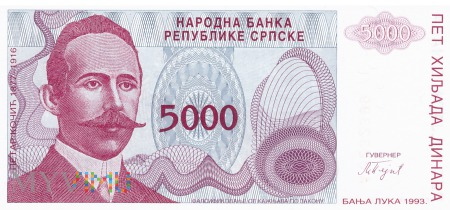 Duże zdjęcie Bośnia i Hercegowina - 5 000 dinarów (1993)