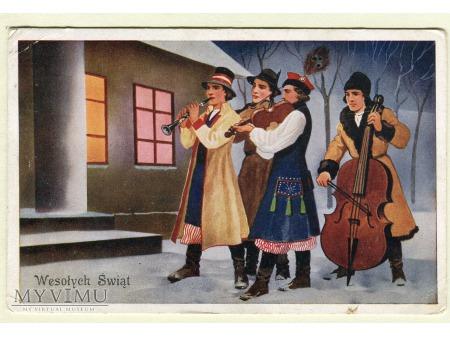 1938 Tradycje Świąteczne zespół grajków