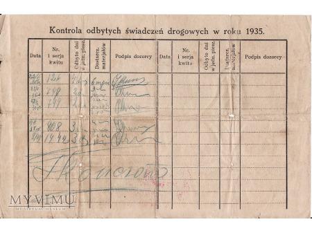Nakaz szarwarkowy-Zabłudów 1935.