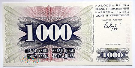 BiH 1000 dinarów 1992