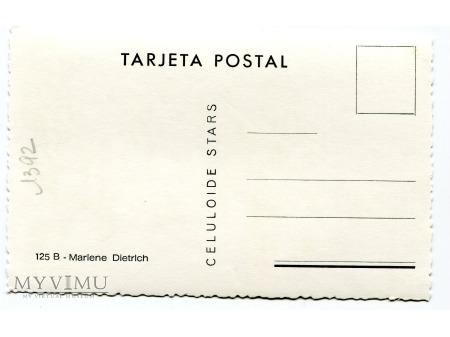 Marlene Dietrich Celuloide Stars Pocztówka 125 B