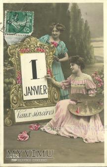 1 JANVIER - Nowy Rok 1909