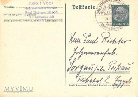 Duże zdjęcie Karta pocztowa Bad Schwarzbach (Isergeb.)