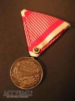 TAPFERKEITSMEDAILLE - Silberne 2.Kl. - Karol I (A)