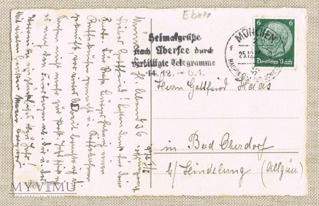 1936 niemiecka pocztówka z motywem dziadka
