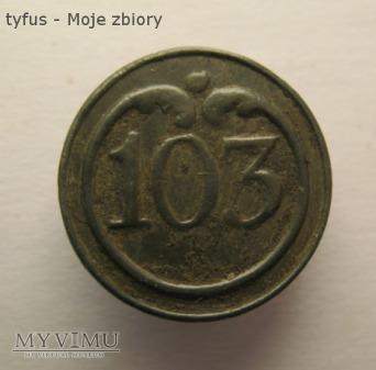 Guzik napoleoński nr 103