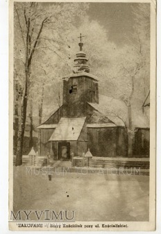 Duże zdjęcie Zakopane Kościół przy Kościeliskiej - lata 40/50