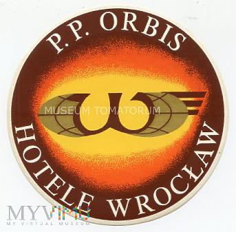 Duże zdjęcie Nalepka hotelowa - Wrocław - Hotele P.P. Orbis