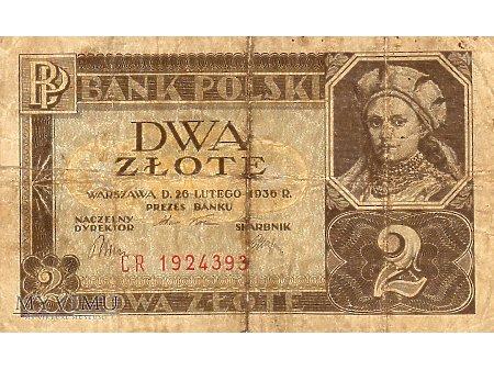 2 złote 26.02.1936r.