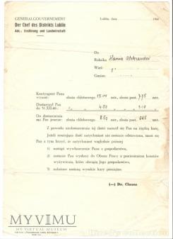 Der Chef des Distrikts Lublin, 1941