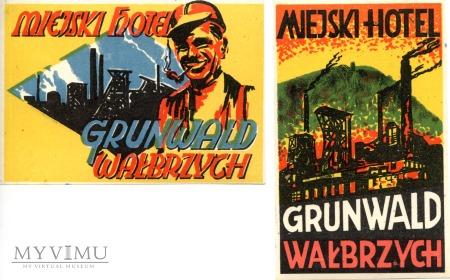 Nalepki hotelowe - Wałbrzych - Hotel Grunwald