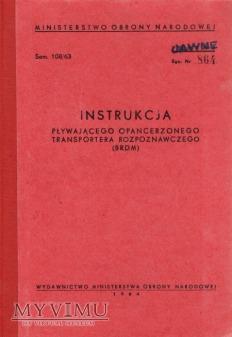 Duże zdjęcie BRDM. Instrukcja obsługi z 1964 r.