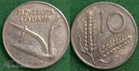 Duże zdjęcie Włochy, 10 Lirów 1955