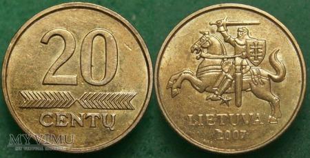 Litwa, 20 Centų 2007
