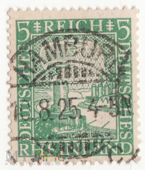 Rheinland 5 Pf Deutsches Reich 1925 NADRENIA