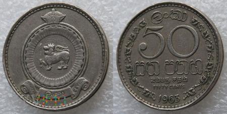 Sri Lanka, 50 centów 1963r
