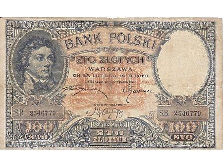 100 złotych polskich - 1919/1924
