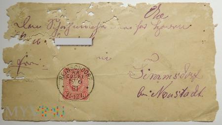 List z Reinschdorf kr Cosel 1881 roku