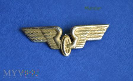 Niemiecka kolej - odznaka na czapkę
