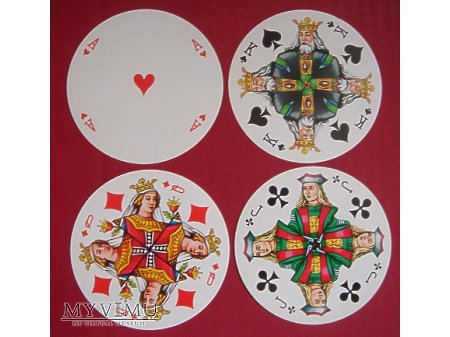 okrągłe karty do gry