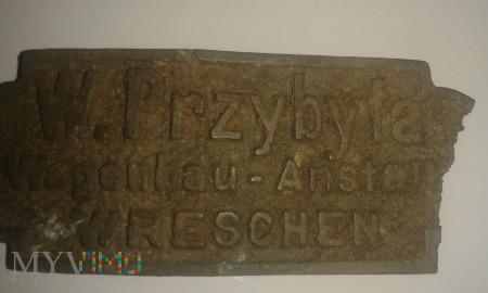 Stara tabliczka niemiecka