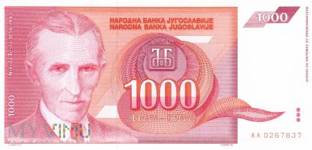Jugosławia - 1 000 dinarów (1992)