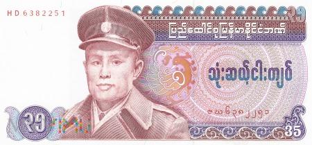 Birma - 35 kiatów (1986)